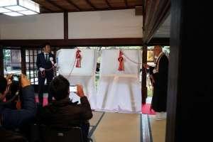 建仁寺様へジュエリー絵画「風神雷神図屏風」を寄贈させて頂きました。